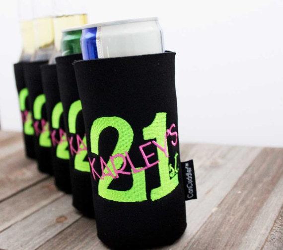 Birthday Gift 21st Birthday Free KOOZIE ® Party By CanCuddler