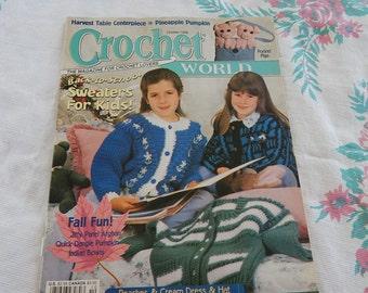 Crochet World Magazine Lot of 5