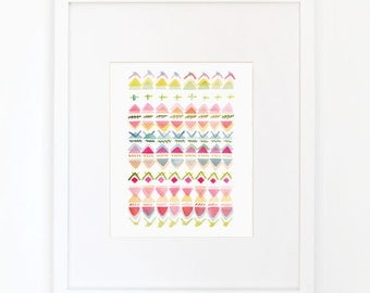 Rhythmic No. 1 with Overlay - Watercolor Art Print