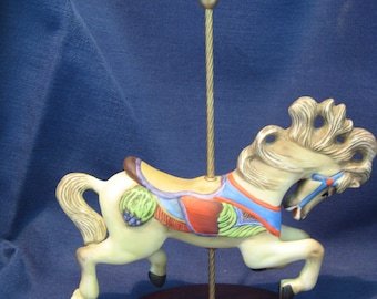 Franklin Mint Treasury of Carousel Art Jumper Horse