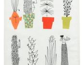 Italian Blooms by Olle Eksell Scandinavian Modernist Tea Towel Almedahls Fabric