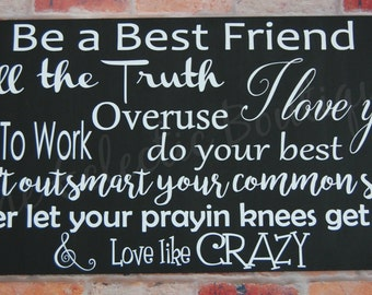 Love like Crazy Wooden Sign