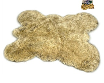 Faux Fur Big Bear Pelt Rug Hide / Bear Skin Area Rug / Faux Fur / Throw / Shag