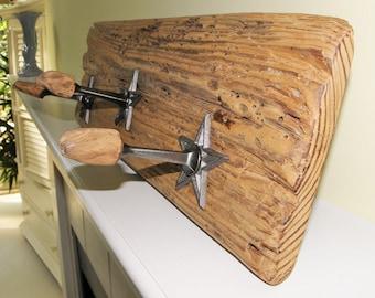 Driftwood with stars coat / towel rack