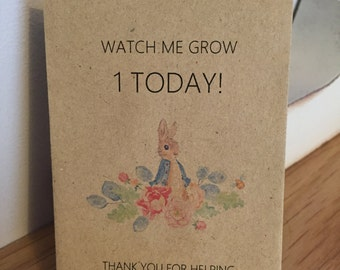 Personalised Seed Packets Flowers Birthday Party Gift Favour Peter Rabbit