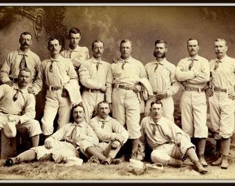 Baseball Victorian Era 1885 -  Print.