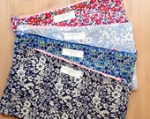 Handmade Fabric Pouch in Floral or Liberty Print - Useful bag gift as a make up bag or handbag organiser