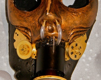 steampunk distorted half face mask