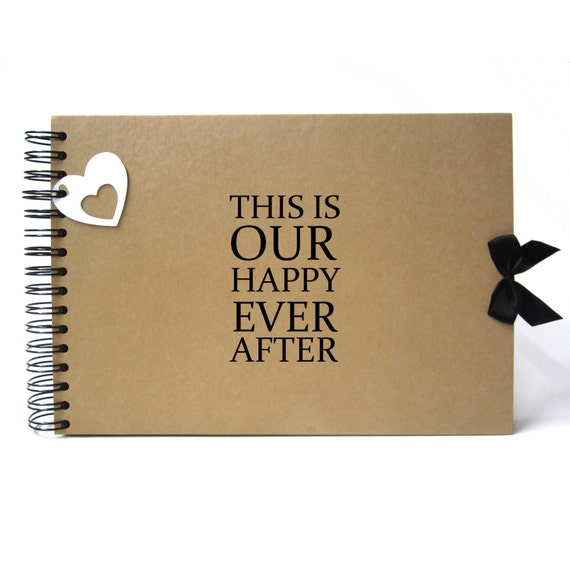 Scrapbook, A5 A4 This is Our Happy Ever After, Card Pages, Photo Album, Keepsake, Guestbook