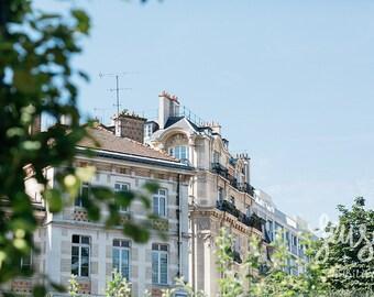 Paris Photography, Large Wall Art Print, Effeil Tower, Paris Decor, Romantic Art Print, Fine Art Photography - Parisian Building