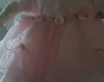 Pink fancy infant dress