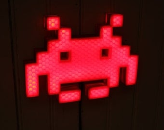 space invaders light