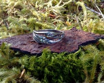 Heron Ring, Alaskan Heron Ring, Silver Heron Ring, Heron Jewelry, Great Blue Heron, Made In Alaska, Heron Totem, Heron Talisman, Womens Gift