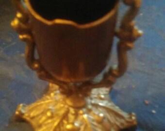 Vintage Antique hand forged brass cauldrin