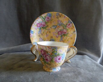 Antique Merit Demitasse/espresso Cup and Saucer from Occupied Japan