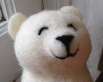 Polar Bear - Needle Felted Mini Bear