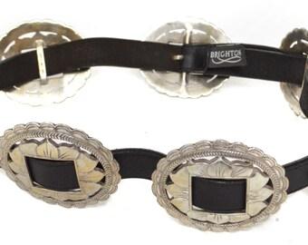 Vintage 90s Brighton Western Conch Leather Belt