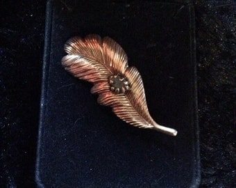 Feather brooch 2 in