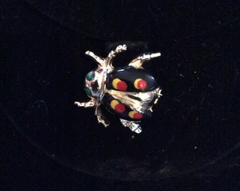 Lady bug brooch 1 in