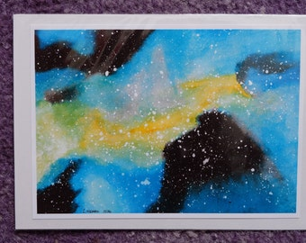 Inky Blue Galaxy Print