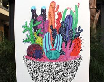 "XL Cactus Vision Print - 18"" x 24"""