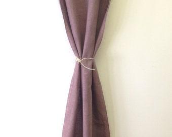 Items Similar To Hand Smocked Linen Curtain Drapery
