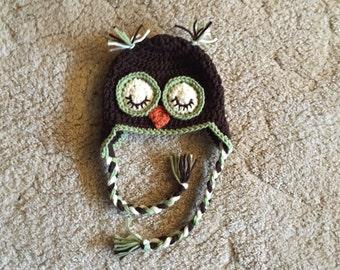 Sleepy Time Owl Hat