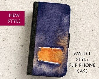 iPhone Case (all models) - Abstract Watercolour - Wallet style flip case -  SamsungGalaxy S4,S5,S6,S7,EdgeS8,S8Plus,Note4,5