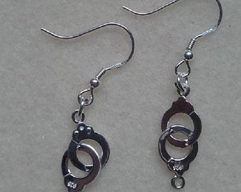 Hand made Sterling silver Handcuff earrings