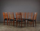 Set of 8 Danish Modern Dining Chairs Svegards of Sweden