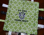 ARMY SPECIAL FORCES Brag Tag Handmade Embroidered Baby Security and Sensory Keepsake Blanket.