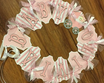Personalized Baby Banner, Baby Shower, Name Banner, Baby Banners Name, Baby Shower Decorations, Girl Baby Banner, Girl Name Banner