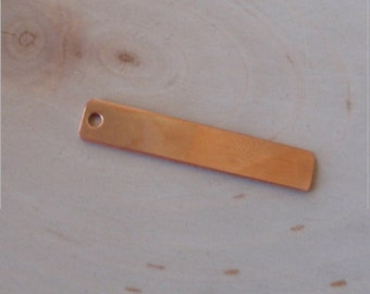 18 gauge copper rectangle tag 1/4 inch by 2 inch - 6pc - copper tag, copper blanks