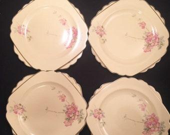 Homer Laughlin - Wells china Briar Rose dinner plate