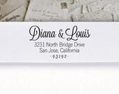 Self-Inking Address Stamp or Wood Address Stamp, Return Address Stamp, Envelope Stamp, Custom Stamp - Diana