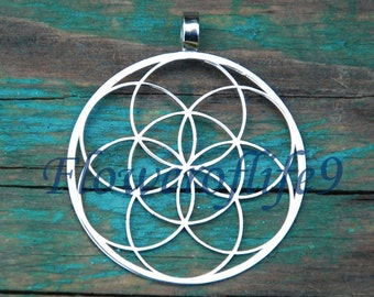 Seed of life  pendant - Stainless Steel