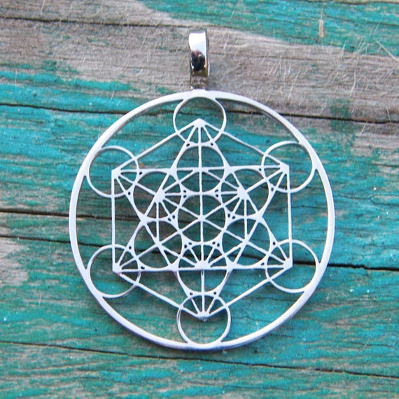 Metatron 39 s cube pendant 1 inch stainless steel by for Metatron s cube jewelry