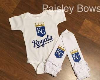 Royals glitter baseball outfit