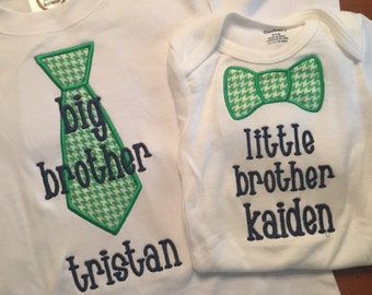 Big Brither Little Brother Tie Shirt Set