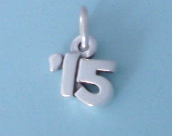 1 Sterling Silver '15 Year Charm for 2015