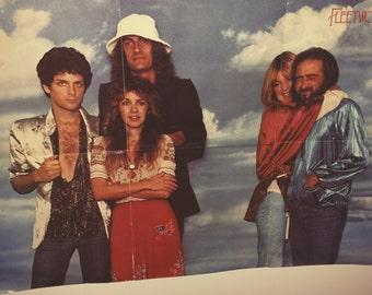 Fleetwood Mac Band Original 1978 Vintage Poster Rare