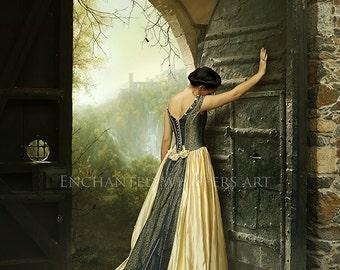 old fashion fantasy woman art print