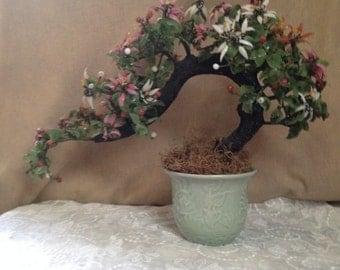 Quartz Bonsai Tree, Jade Tree in Celadon Pot