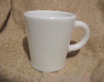 HAZEL ATLAS White Milk Glass MUG 1930's