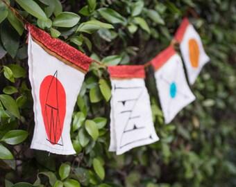 Custom Sigil Prayer Flags with Tarot Reading