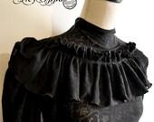top steampunk Lady Holmes black