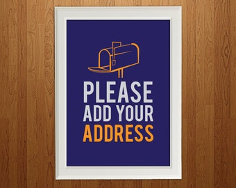 DIY Printable 8x10  / Please Add Your Address Sign