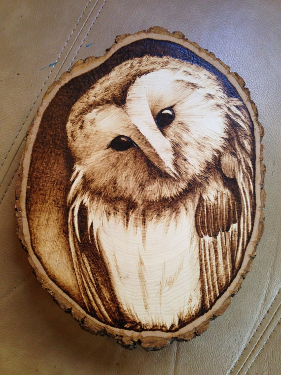 Items similar to owl woodburning on etsy