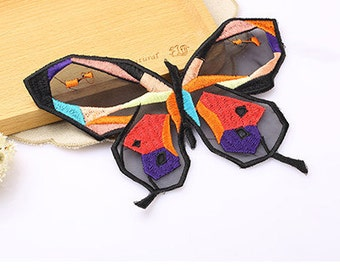 3 pcs butterfly patch sew-on Applique, garment DIY accessory #2376