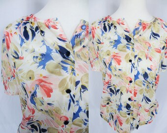 Vintage Blouse, Womens Blouse, Womens Button Up, Button Up Blouse, Button Up Shirt Women, Button Up Shirt, Blouse Vintage, Women Vintage Top